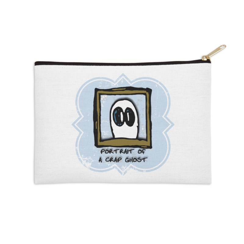 Portrait of a Crap Ghost Accessories Zip Pouch by stonestreet's Artist Shop