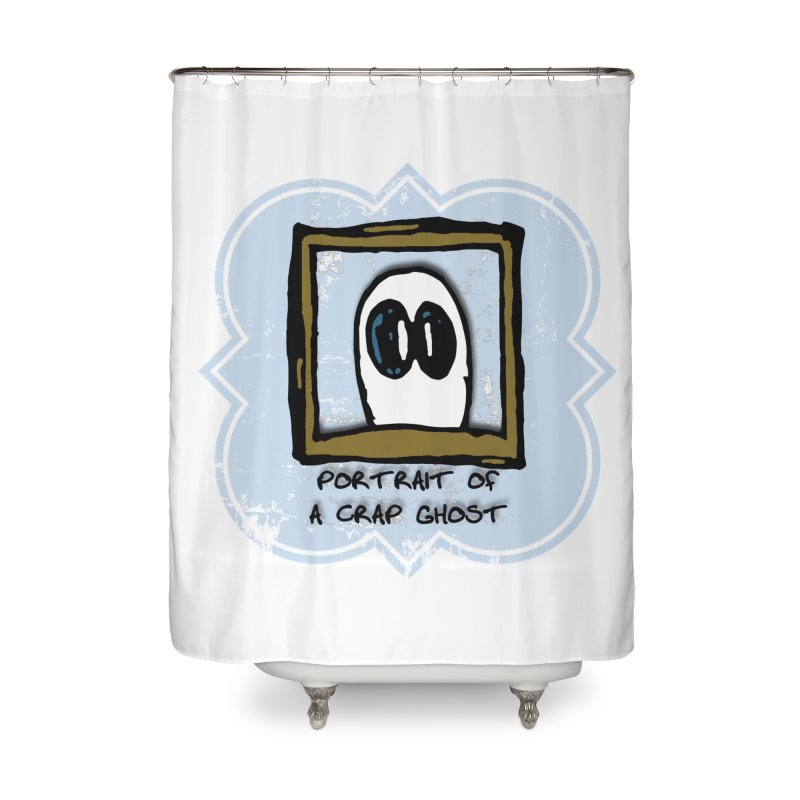 Portrait of a Crap Ghost Home Shower Curtain by stonestreet's Artist Shop