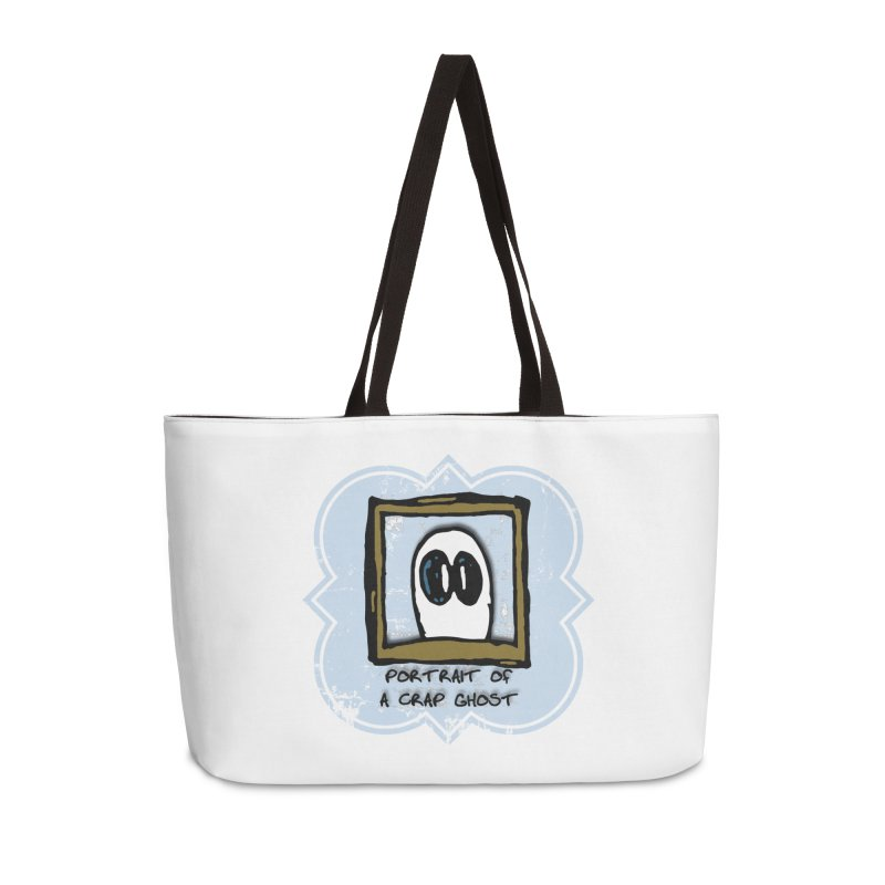 Portrait of a Crap Ghost Accessories Weekender Bag Bag by stonestreet's Artist Shop