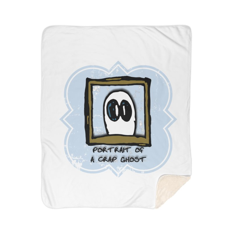 Portrait of a Crap Ghost Home Sherpa Blanket Blanket by stonestreet's Artist Shop