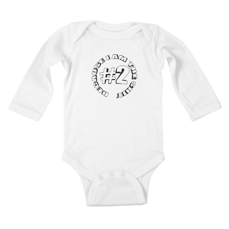 Number Two Kids Baby Longsleeve Bodysuit by stonestreet's Artist Shop