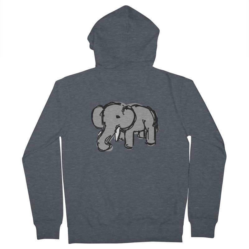 Elephant Men's Zip-Up Hoody by Stonestreet Designs