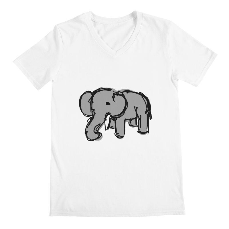 Elephant Men's V-Neck by Stonestreet Designs