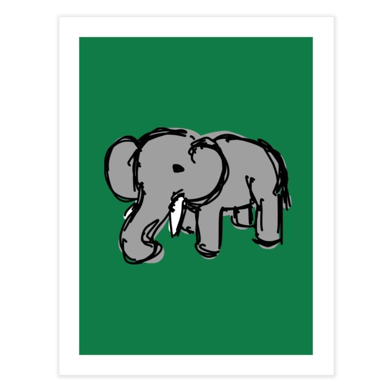 Elephant Home Fine Art Print by Stonestreet Designs