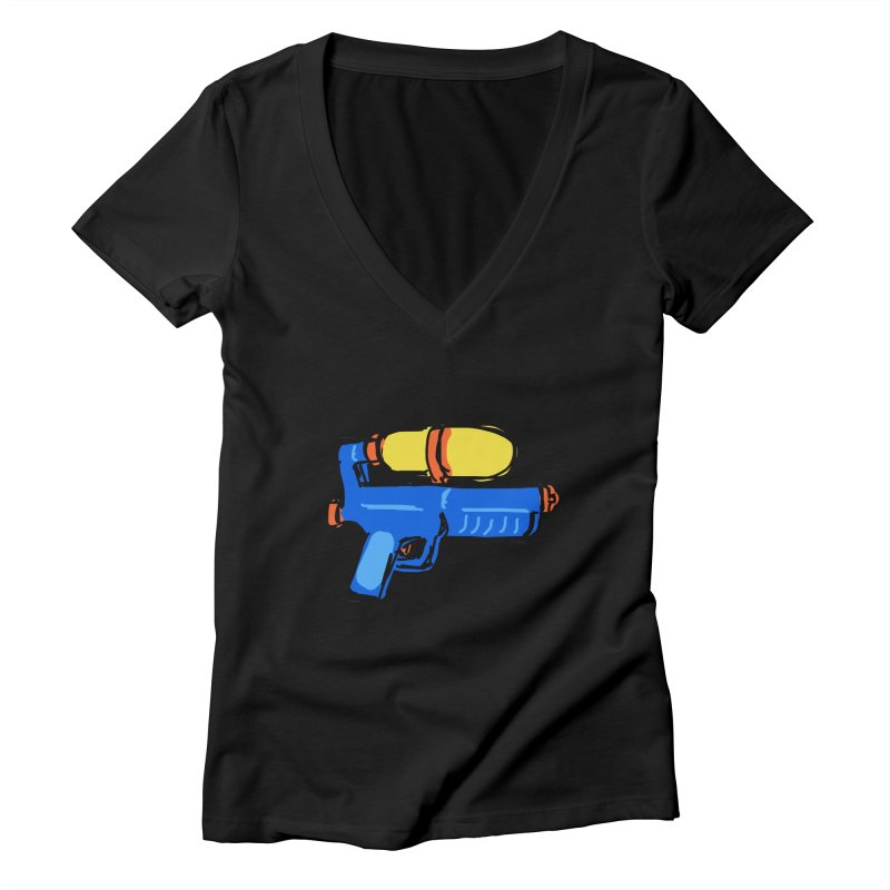 Water Gun Women's V-Neck by Stonestreet Designs