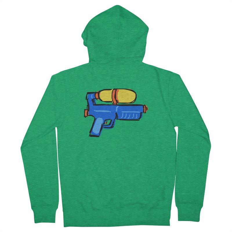 Water Gun Men's Zip-Up Hoody by Stonestreet Designs