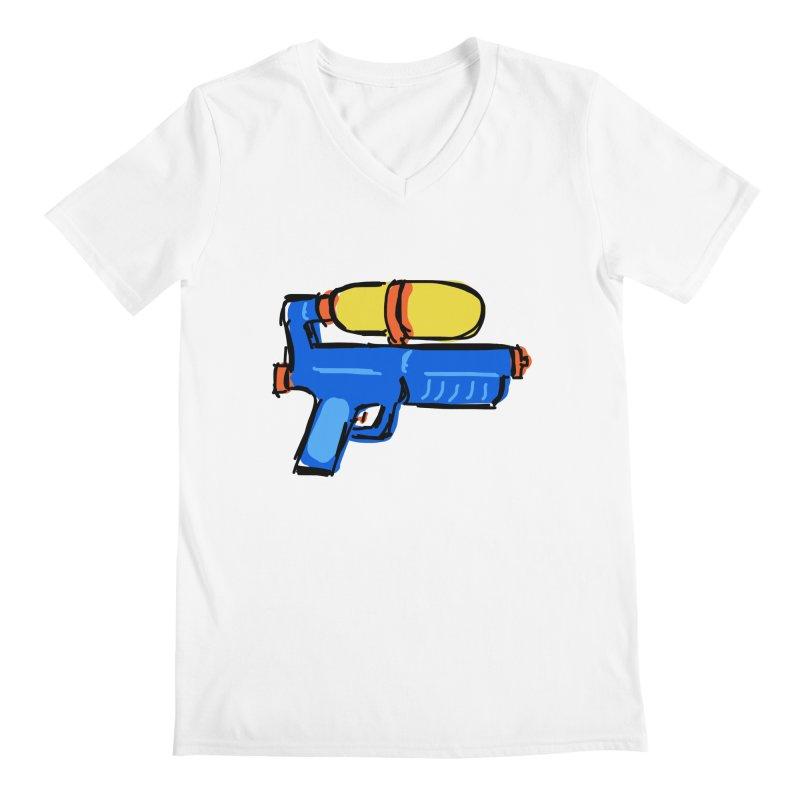Water Gun Men's V-Neck by Stonestreet Designs
