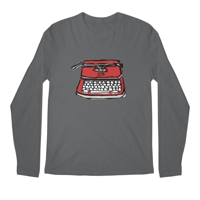 Typewriter Men's Longsleeve T-Shirt by Stonestreet Designs