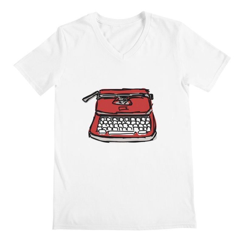 Typewriter Men's V-Neck by Stonestreet Designs