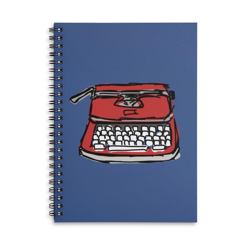 Typewriter Accessories Notebook by Stonestreet Designs