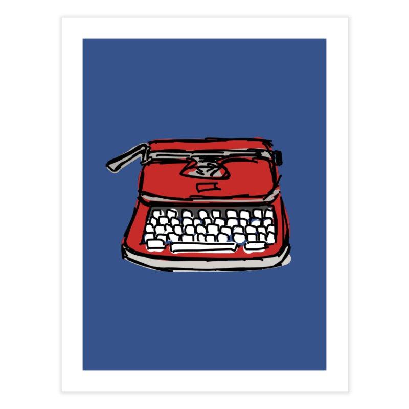 Typewriter Home Fine Art Print by Stonestreet Designs