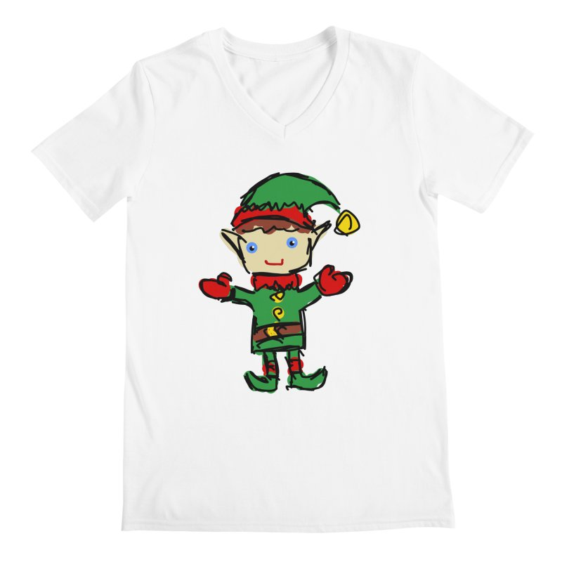 Elf Men's V-Neck by Stonestreet Designs