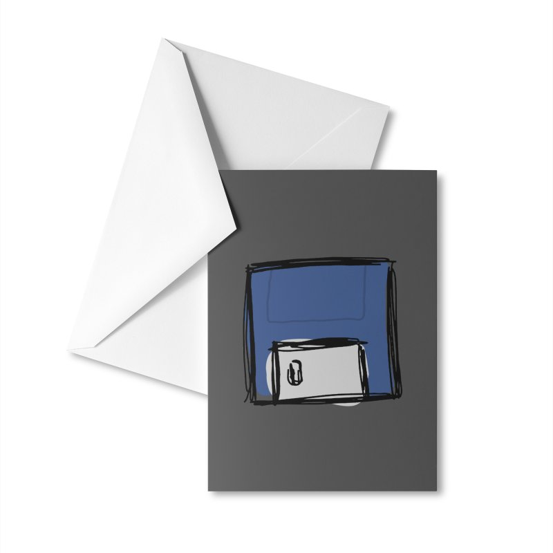 Save Icon Accessories Greeting Card by Stonestreet Designs