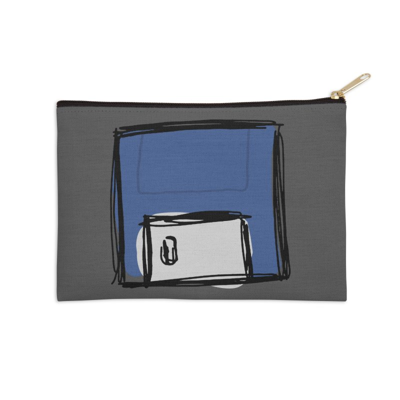 Save Icon Accessories Zip Pouch by Stonestreet Designs