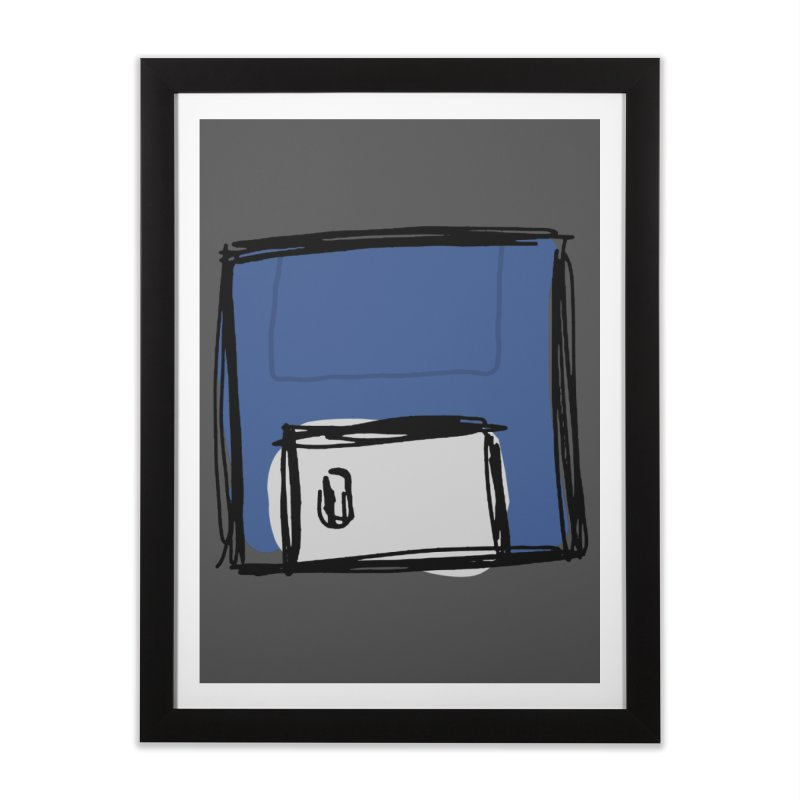 Save Icon Home Framed Fine Art Print by Stonestreet Designs