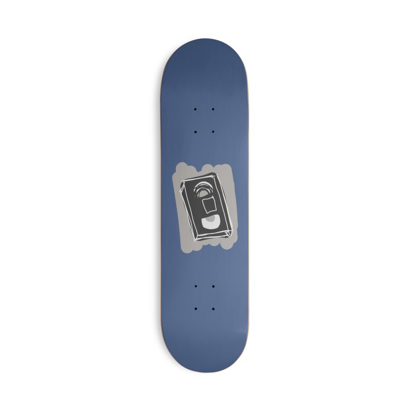 VHS Tape Accessories Skateboard by Stonestreet Designs
