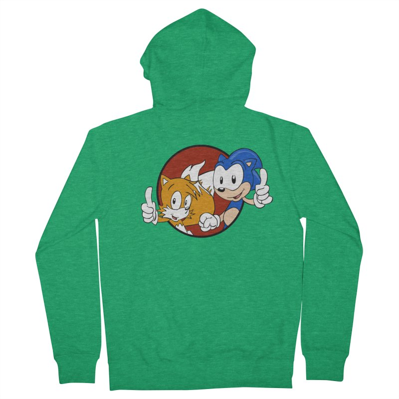 Sonic and Tails Women's Zip-Up Hoody by Stonestreet Designs