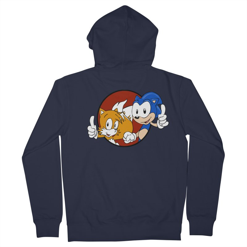 Sonic and Tails Men's Zip-Up Hoody by Stonestreet Designs
