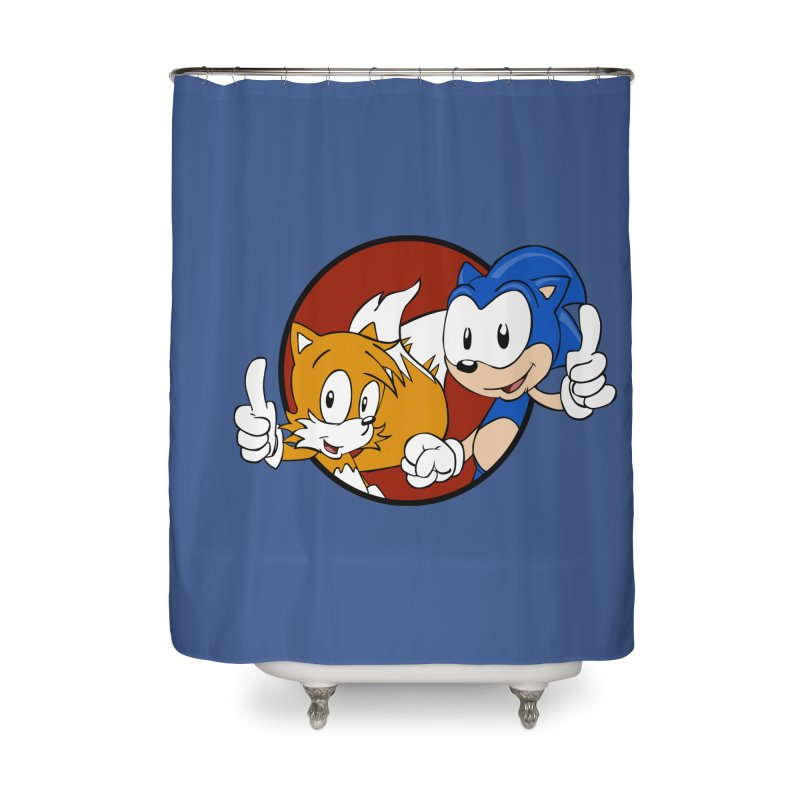 Sonic and Tails Home Shower Curtain by Stonestreet Designs