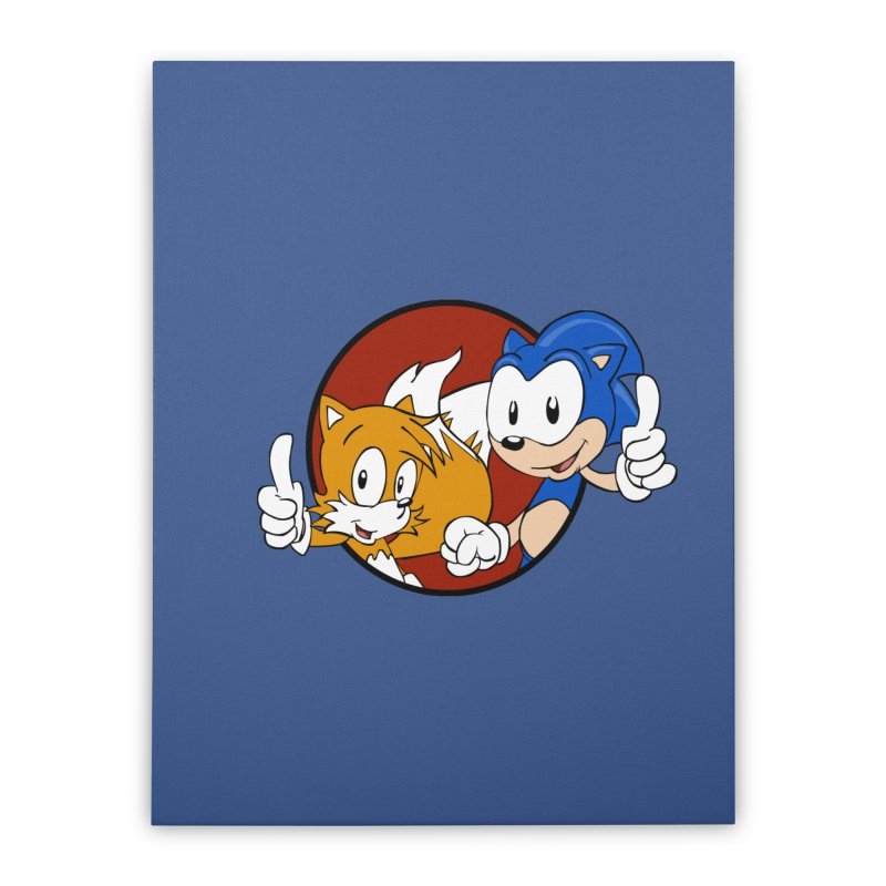 Sonic and Tails Home Stretched Canvas by Stonestreet Designs