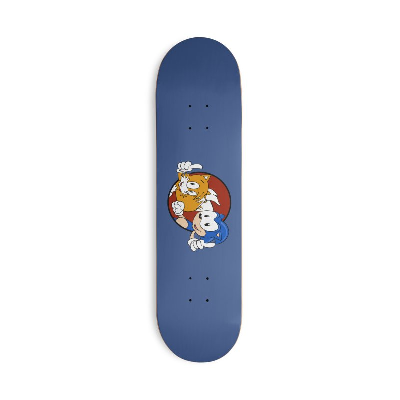 Sonic and Tails Accessories Skateboard by Stonestreet Designs