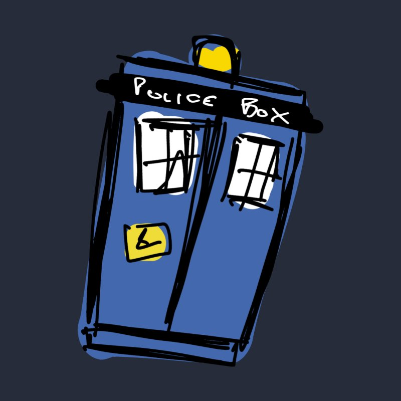 Police Box Home Blanket by Stonestreet Designs
