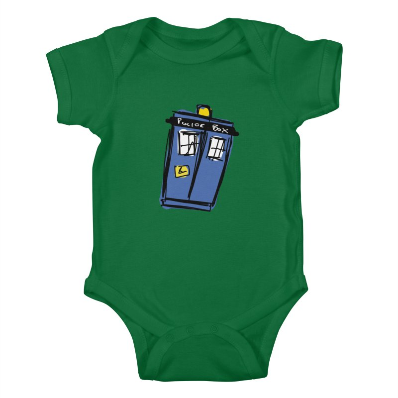 Police Box Kids Baby Bodysuit by Stonestreet Designs