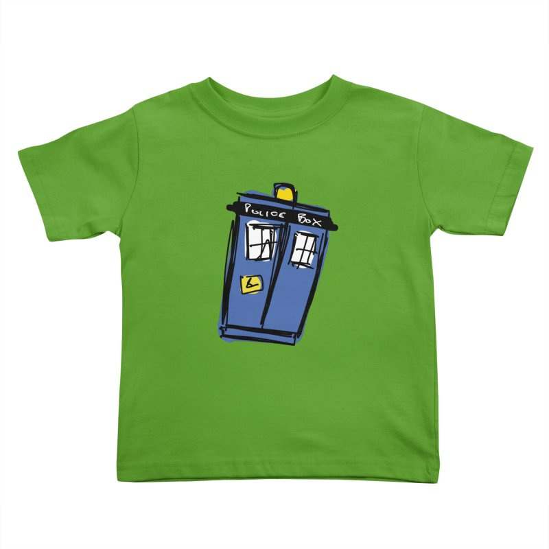 Police Box Kids Toddler T-Shirt by Stonestreet Designs