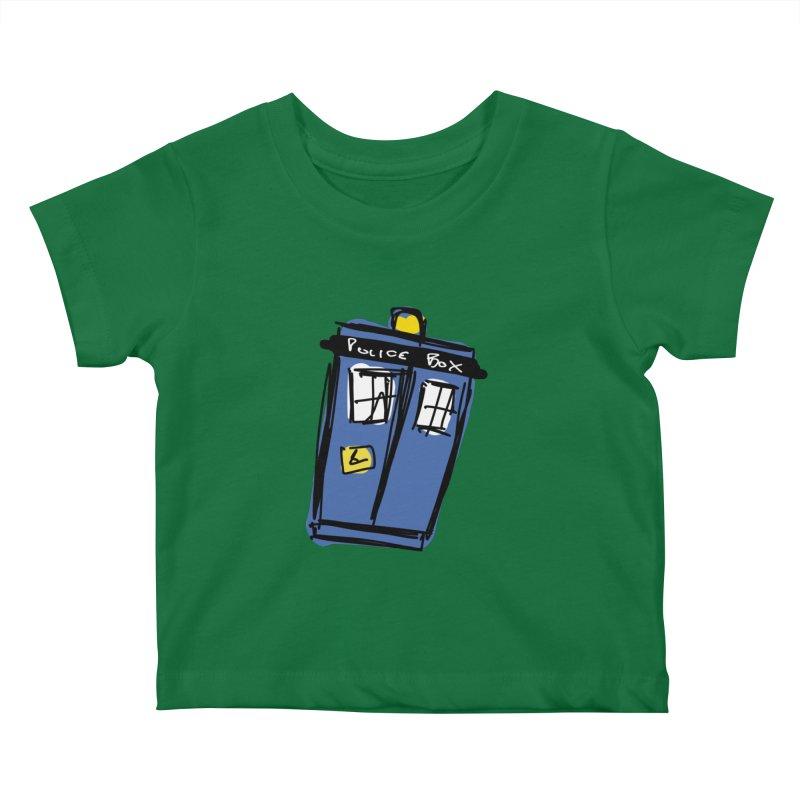 Police Box Kids Baby T-Shirt by Stonestreet Designs