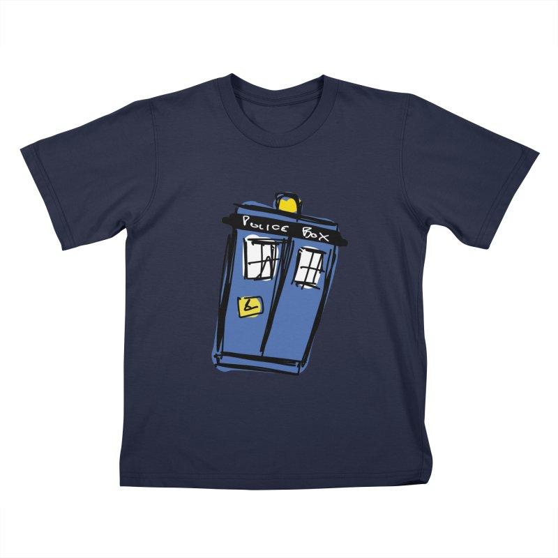 Police Box Kids T-Shirt by Stonestreet Designs