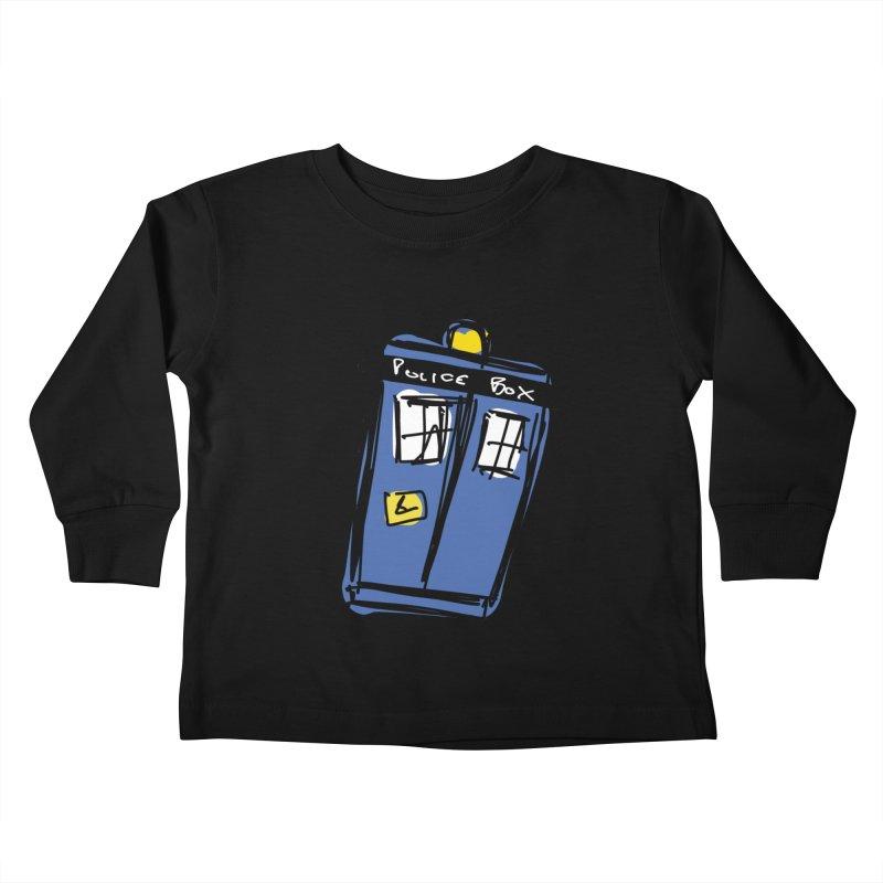 Police Box Kids Toddler Longsleeve T-Shirt by Stonestreet Designs