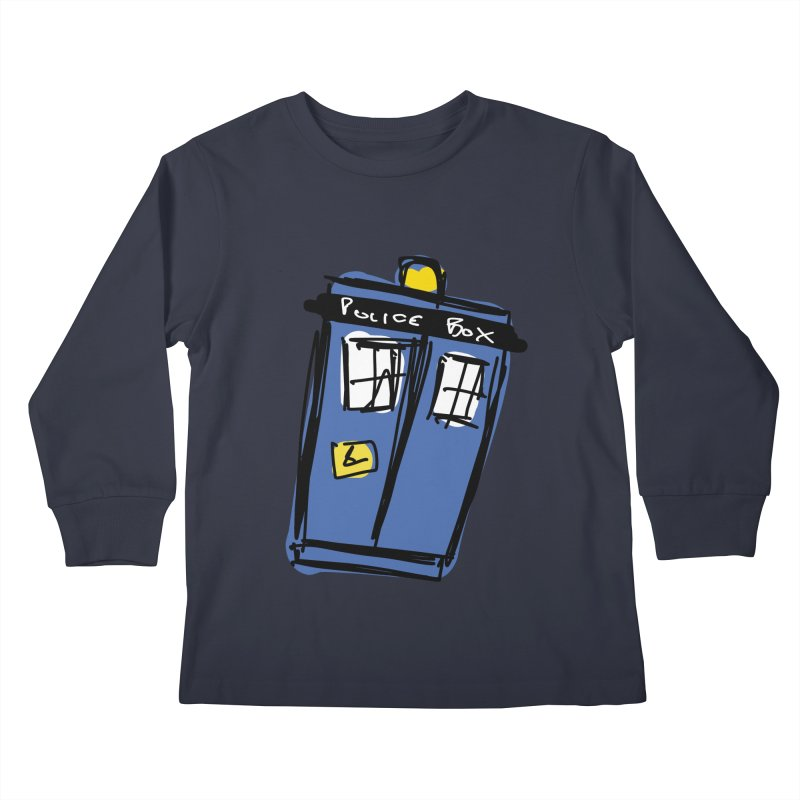 Police Box Kids Longsleeve T-Shirt by Stonestreet Designs