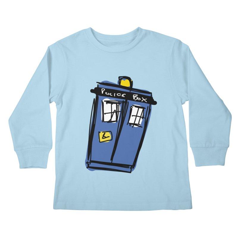 Police Box Kids Longsleeve T-Shirt by Stonestreet Designs