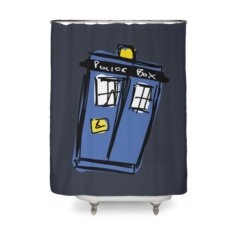 Police Box Home Shower Curtain by Stonestreet Designs