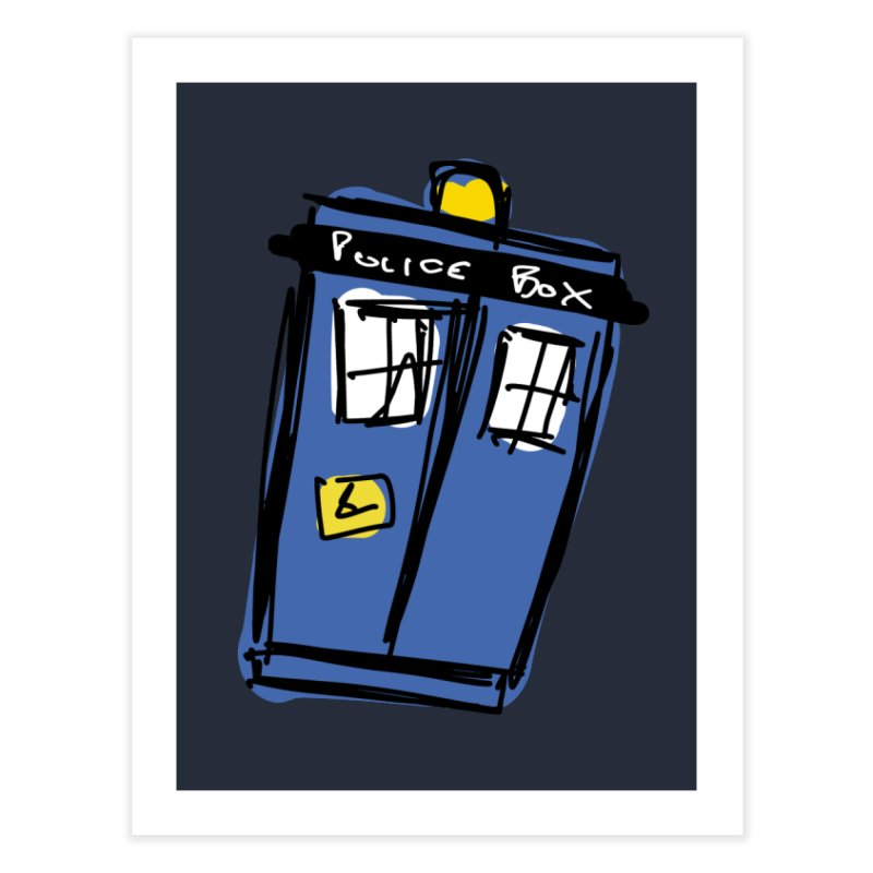 Police Box Home Fine Art Print by Stonestreet Designs