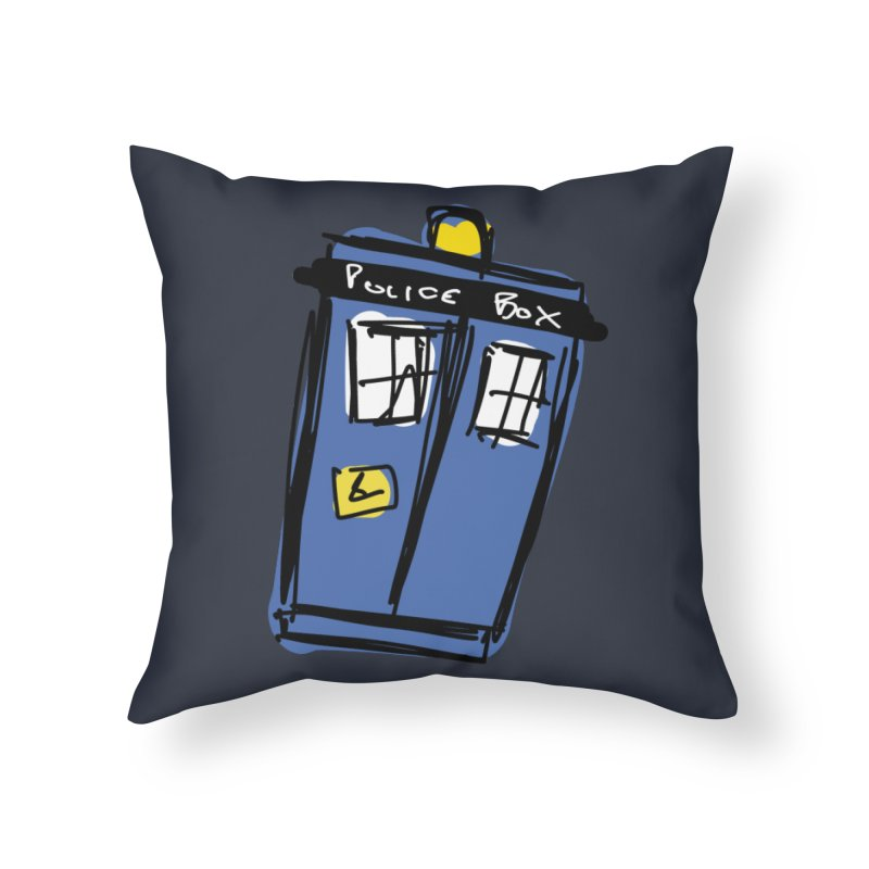Police Box Home Throw Pillow by Stonestreet Designs