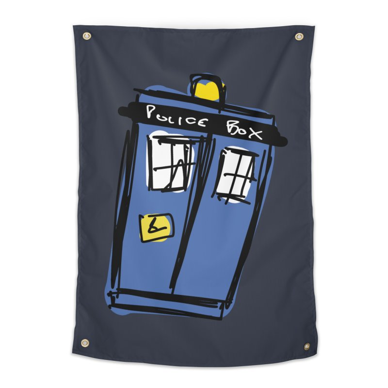 Police Box Home Tapestry by Stonestreet Designs