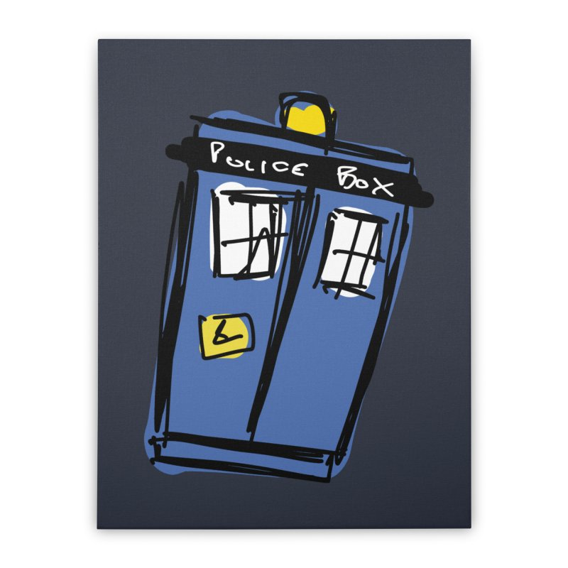 Police Box Home Stretched Canvas by Stonestreet Designs
