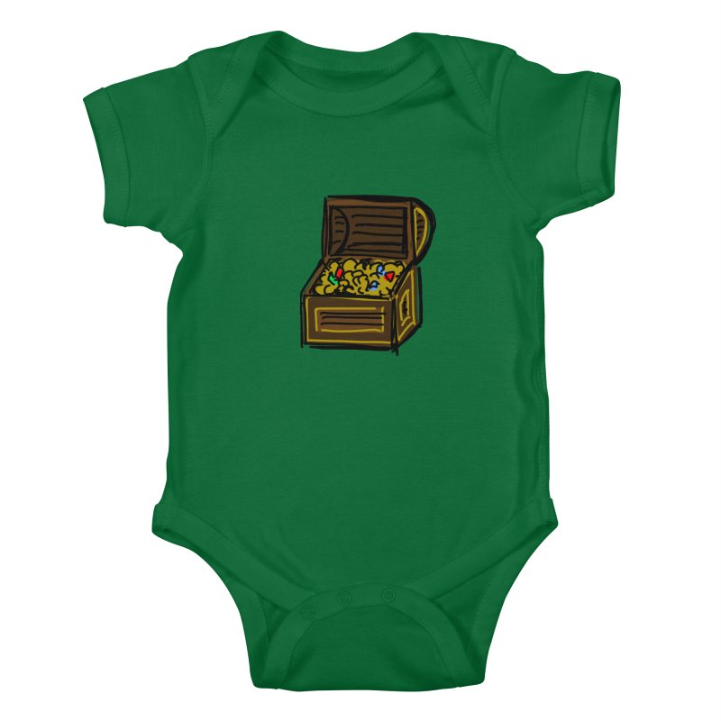 Treasure Chest Kids Baby Bodysuit by Stonestreet Designs