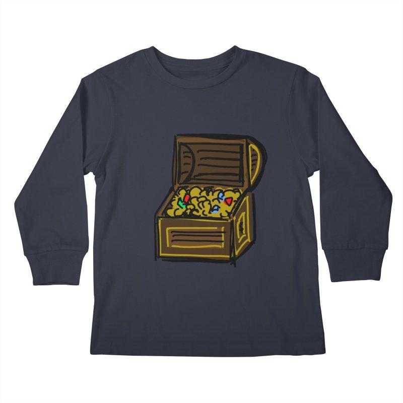 Treasure Chest Kids Longsleeve T-Shirt by Stonestreet Designs
