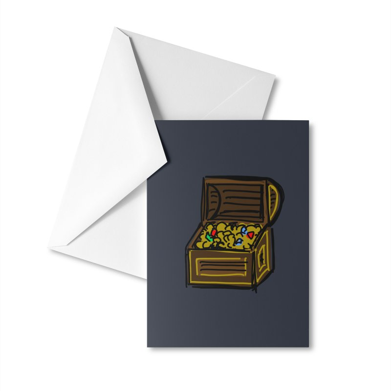 Treasure Chest Accessories Greeting Card by Stonestreet Designs