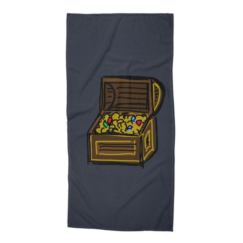 Treasure Chest Accessories Beach Towel by Stonestreet Designs