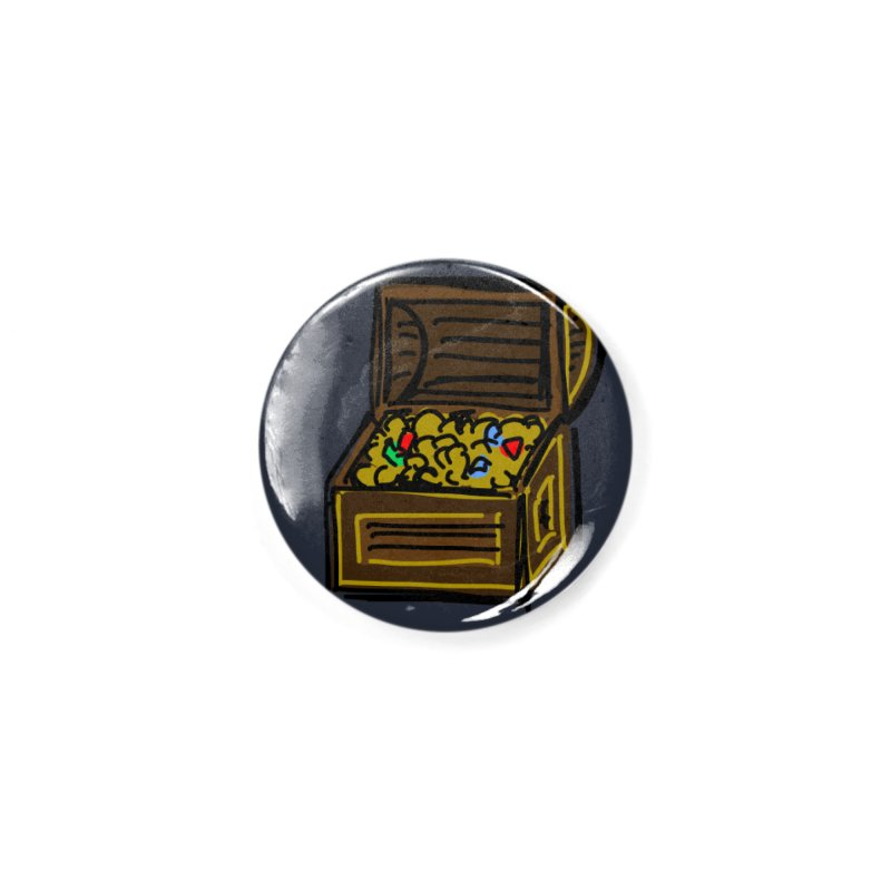Treasure Chest Accessories Button by Stonestreet Designs