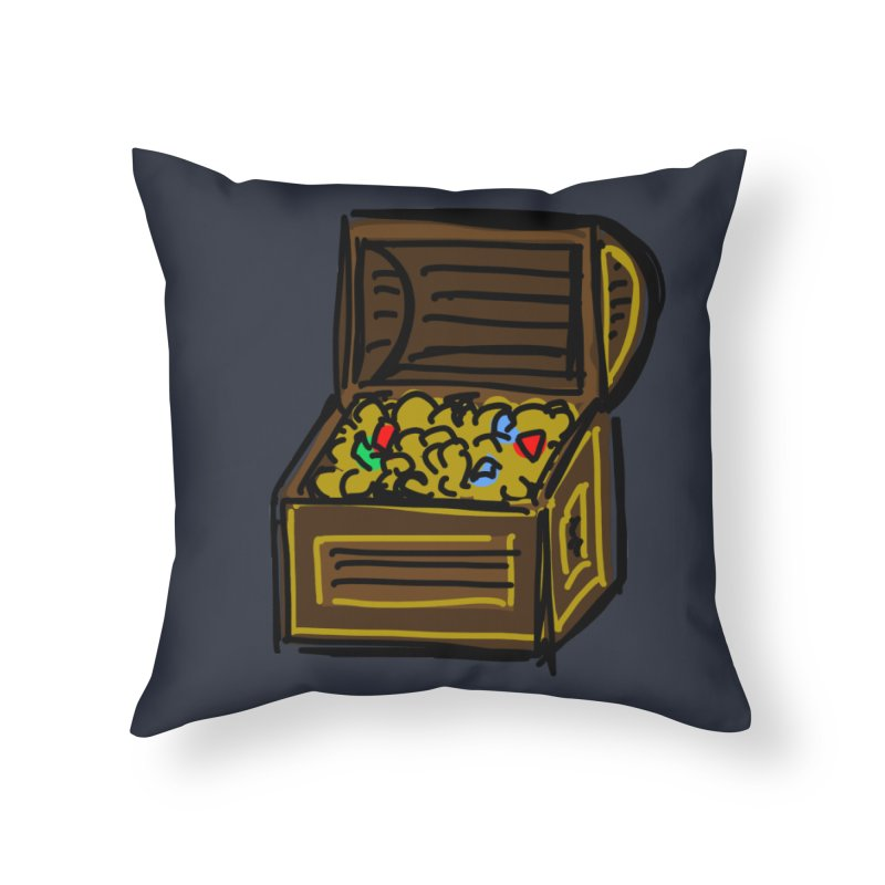 Treasure Chest Home Throw Pillow by Stonestreet Designs