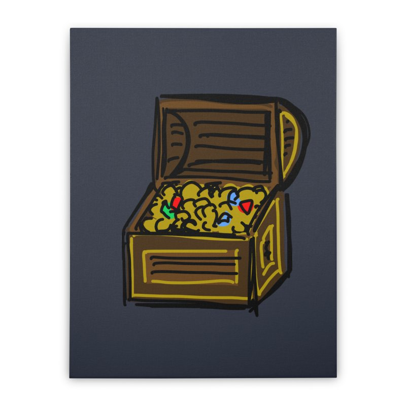 Treasure Chest Home Stretched Canvas by Stonestreet Designs