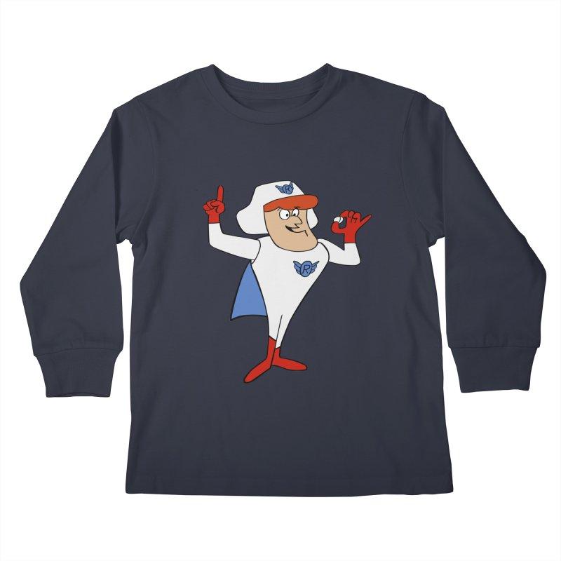 Roger Ramjet Kids Longsleeve T-Shirt by Stonestreet Designs