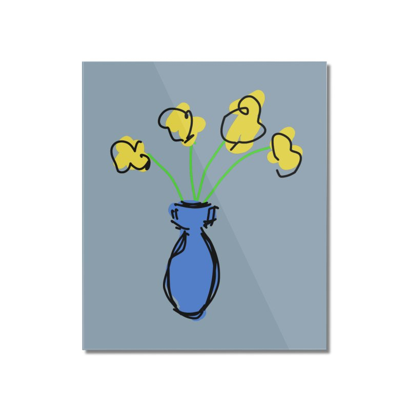 Vase of Flowers Home Mounted Acrylic Print by Stonestreet Designs