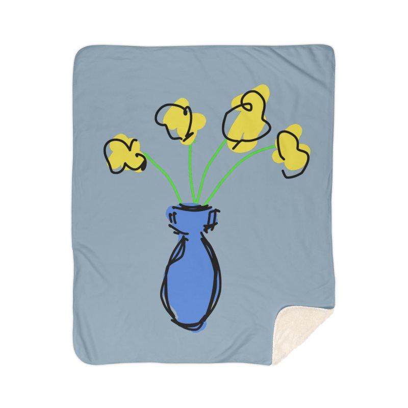 Vase of Flowers Home Blanket by Stonestreet Designs