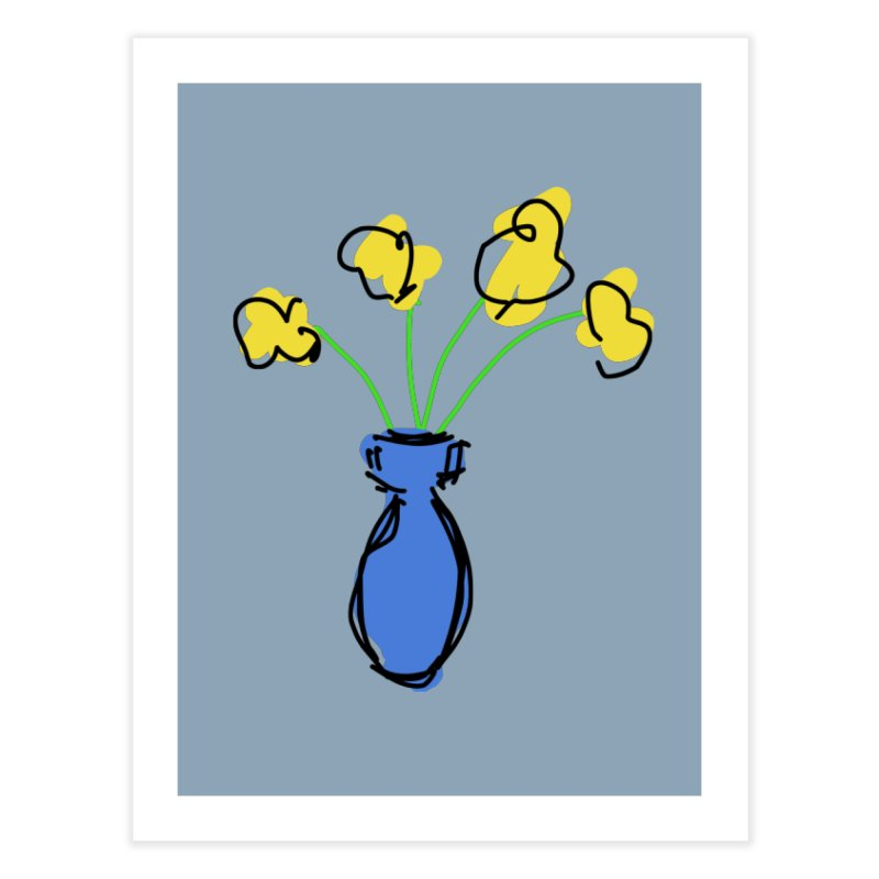 Vase of Flowers Home Fine Art Print by Stonestreet Designs