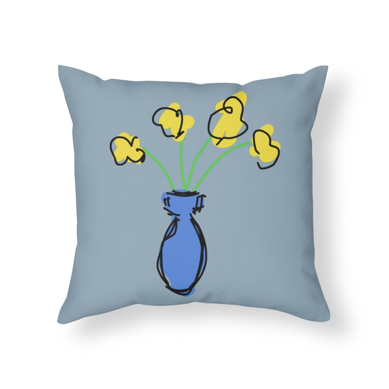 Vase of Flowers Home Throw Pillow by Stonestreet Designs